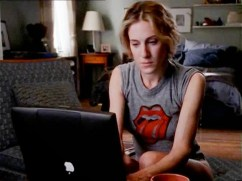 Carrie Bradshaw writing about sex -- how Pluto in Virgo is that. Played by Sarah Jessica Parker (Pluto in Virgo)