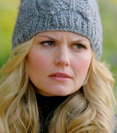 Emma Swan (Jennifer Morrison) needs to keep her head warm in those northern climes.