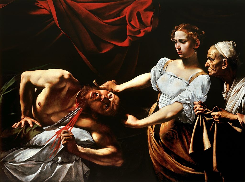 by Caravaggio. This painting is in the Uffizi.
