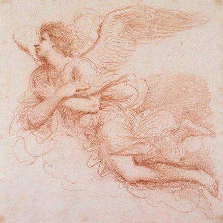 Angel in Flight. Guercino