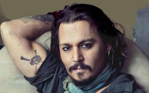 Johnny Depp, Gemini Sun. Not so much with the eyebrows for Depp.