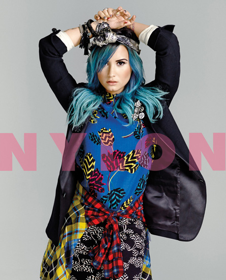 Demi Lovato on the cover of nylon (2013)