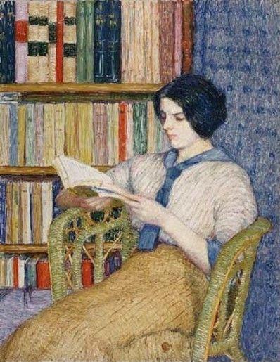 Girl Reading by Torajiro Kojima