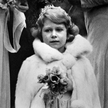 Princess Elizabeth, the future Queen, in 1931 — in a cosy fur wrap.