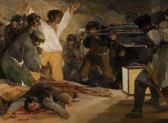 Detail from El Tres Mayo (1814), which depicts a summary execution.