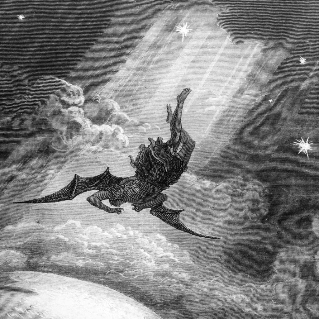 Satan's fall in Paradise Lost. Illustration by Gustav Doré