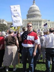 Tea Partiers at Capitol Hill, namechecking John Galt, the hero of Atlas Shrugged.
