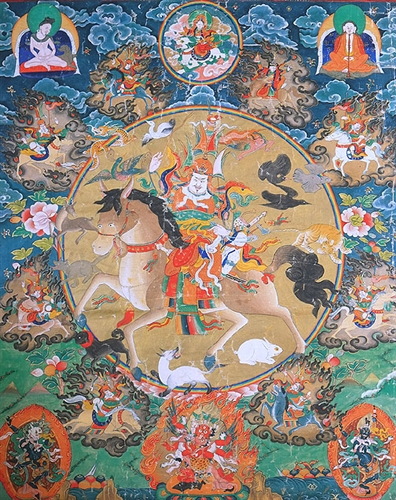 King Gesar travelled to the Underworld and fetched the food of immortality and the water of life.