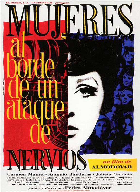 Juan Gatti's original poster for Women on the Verge of a Nervous Breakdown (1988)