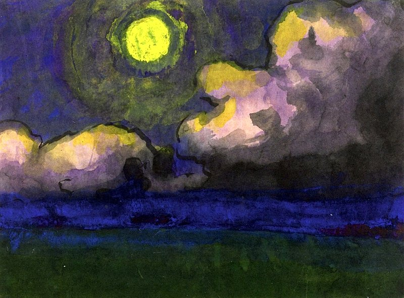 Moon over the Marsh — Emil Nolde