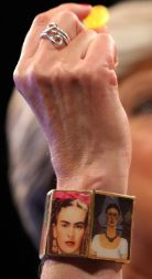 Theresa May wearing the Kahlo bracelet