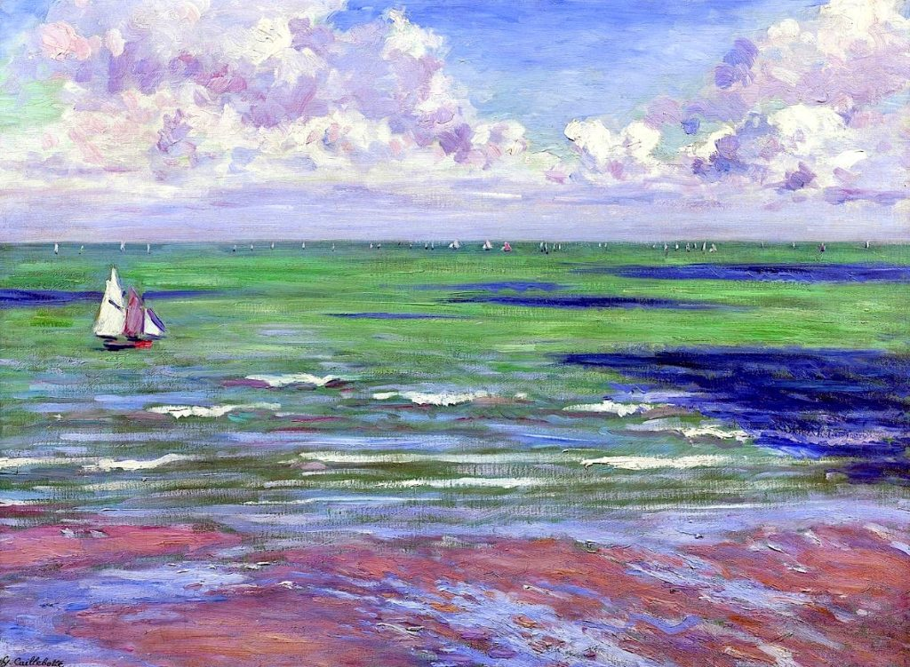 Seascape, Regatta at Villers, Gustave Caillebotte