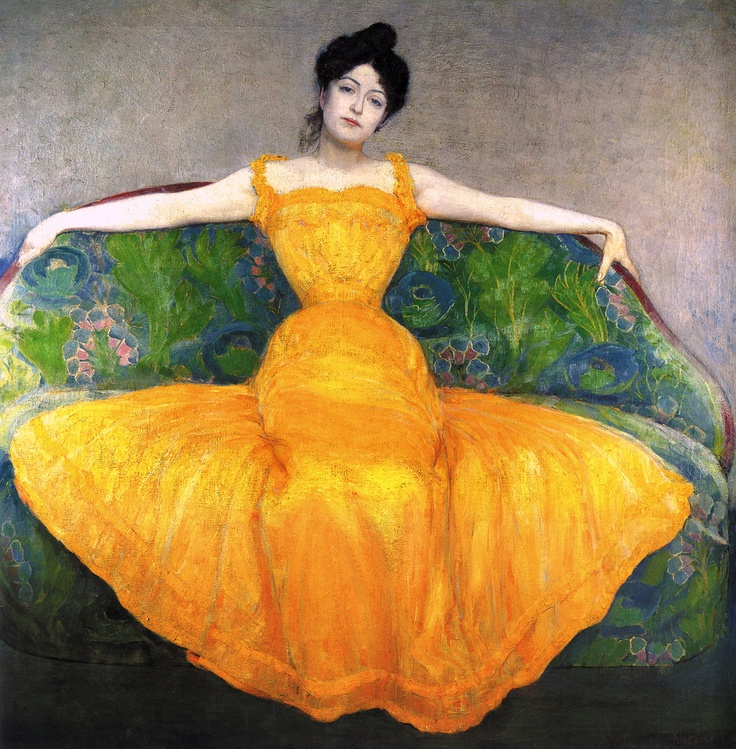 Woman in a Yellow Dress -- Max Kurzwell