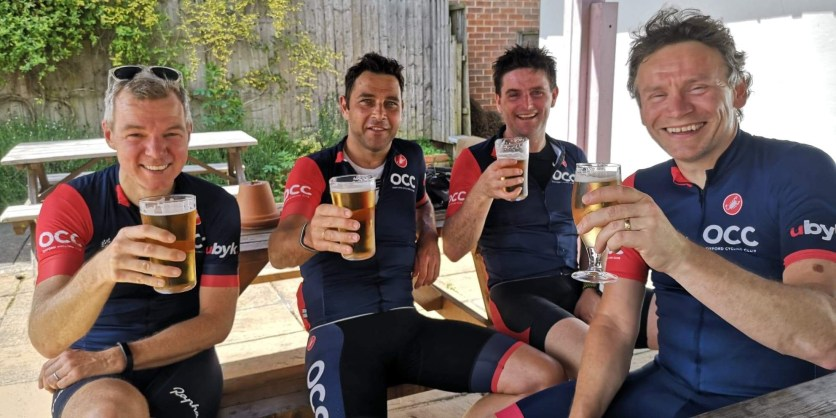 Why not, after a hard, hot ride?! All our rides end at Home on the Abingdon Road, where we always receive a warm welcome from Noel, Tamara and their team. Safe storage of bikes, great coffee (even better beers), pastries and snacks. Check them out on Instagram @homepubs