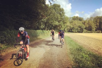 Nothing like a little cyclo-cross on a club ride to spice things up a bit!