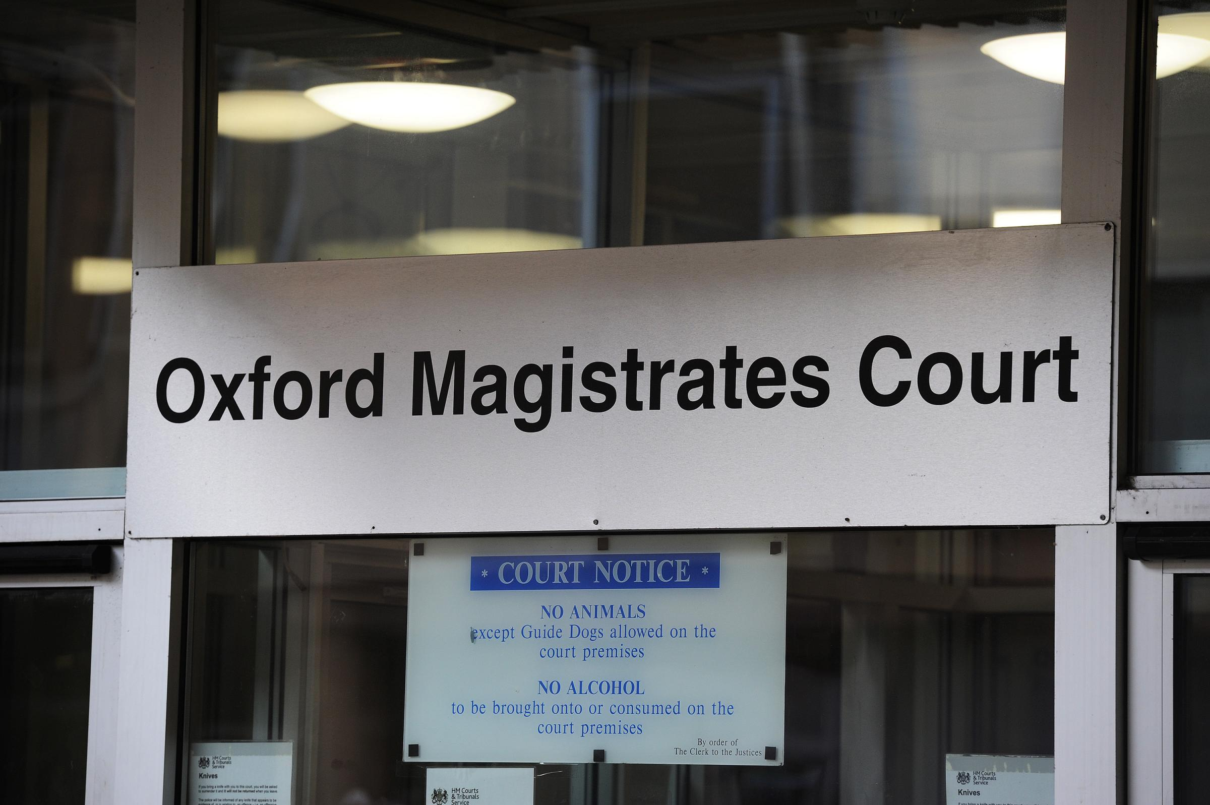 Sign outside Oxford Magistrates' Court