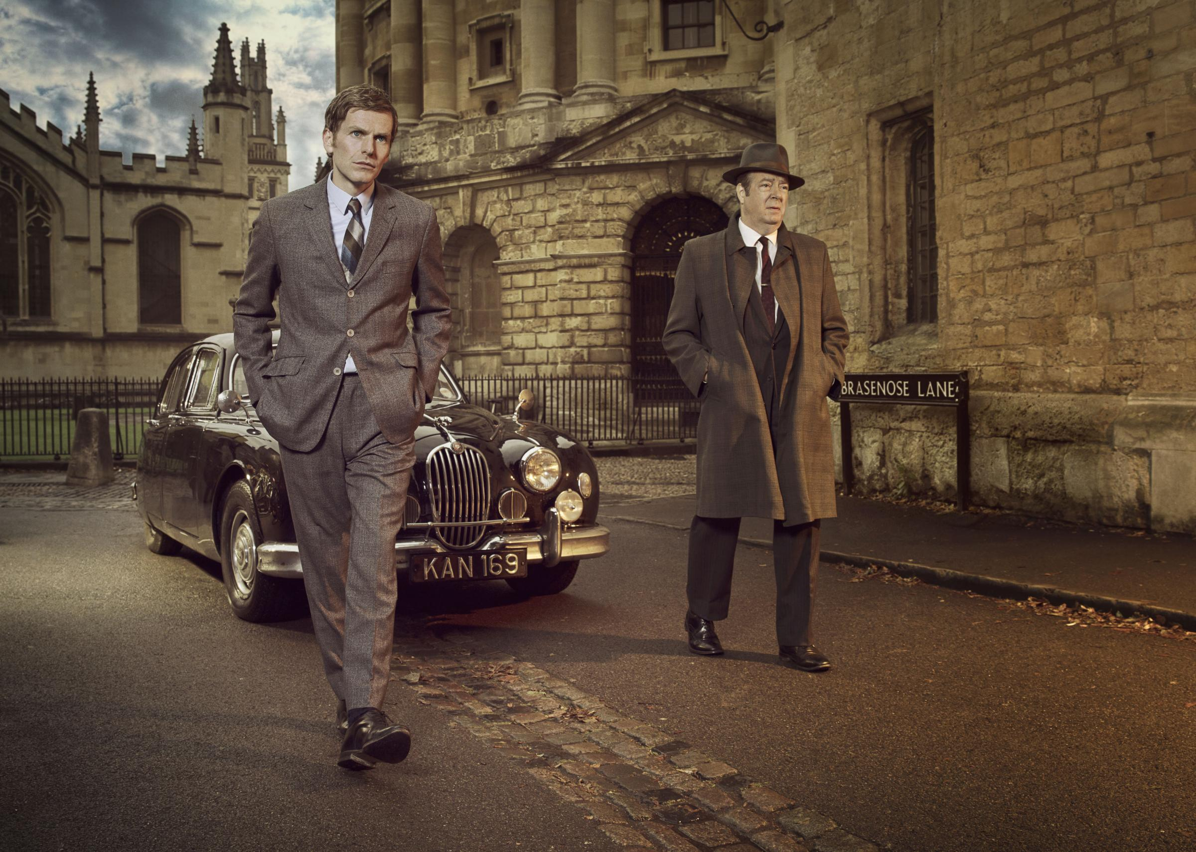 Shaun Evans as Detective Sergeant Endeavour Morse and Roger Allam as Detective Chief Inspector Fred Thursday. Picture: ©ITV Plc/Jonathan Ford.