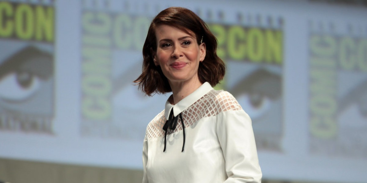 Sarah Paulson, the star of Ratched, at the San Diego Comic Con in 2014