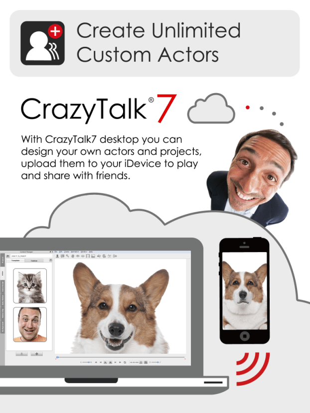 Crazy Talk - create unimited custom actors