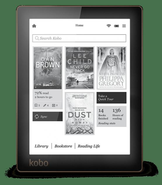 Kobo Aura -readingDashboard