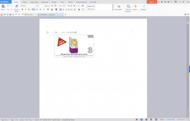 WPS desktop free alternative word office word processing program .odt format fail