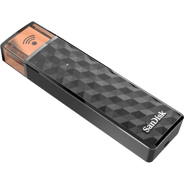 SanDisk black amber lid wireless connect stick
