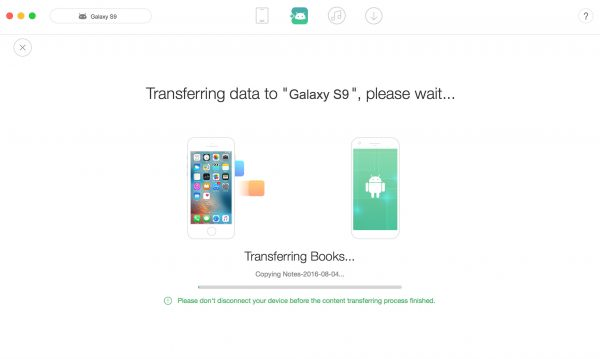 How to transfer notes from iphone to samsung s9