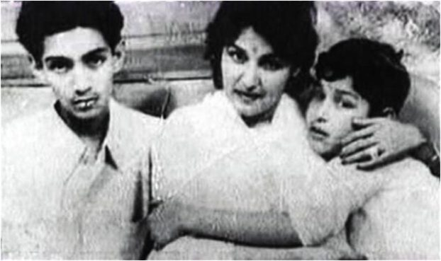 Noor Jahan with sons