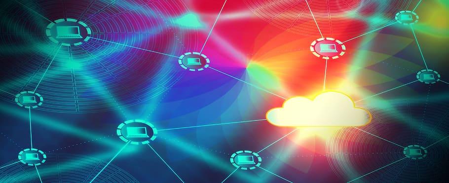 VPN technology business communication concept