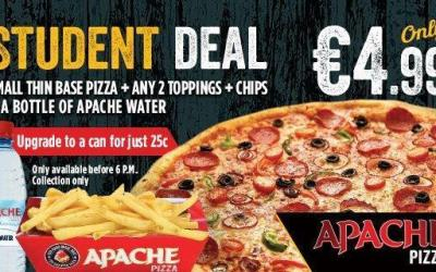 apache pizza student deal