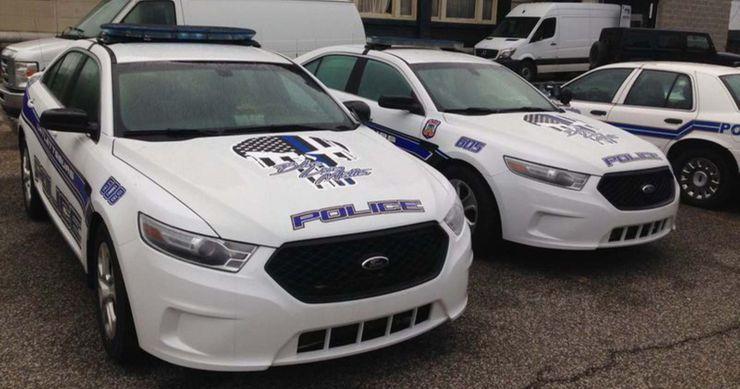 policía logotipo punisher