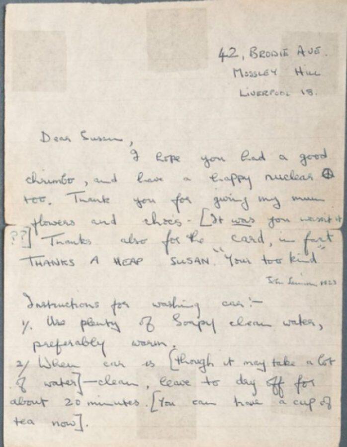 Paul McCartney carta
