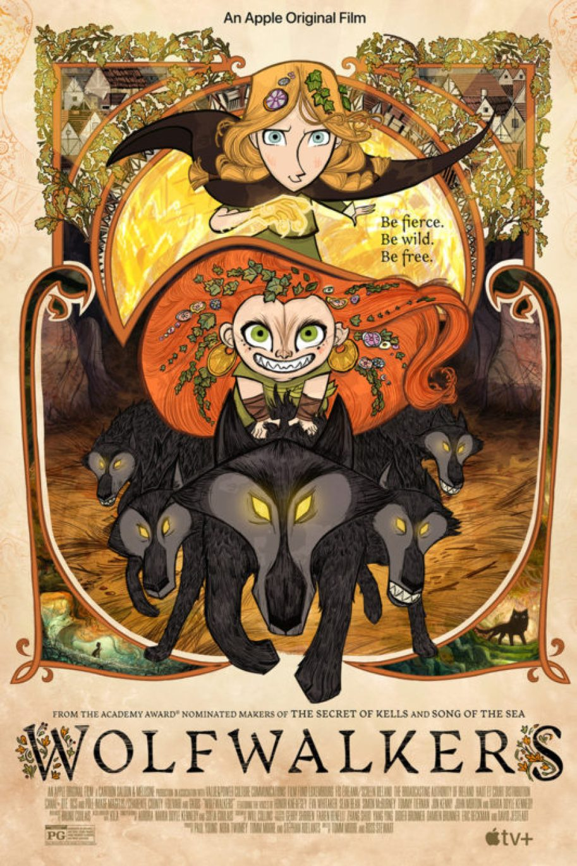 Wolfwalkers película animada apple tv poster