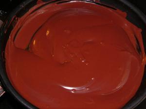 chocolat fondu à la poêle Oyera