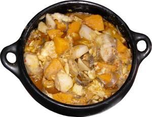 ragoût de morue à la butternut et l'eddoe