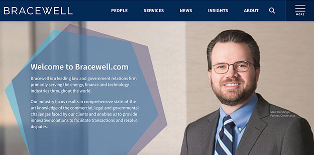 bracewell law firm website design