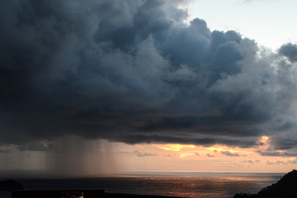 In Costa Rica, even rain storms can be beautiful. (Photo courtesy ofDan Farrelly)