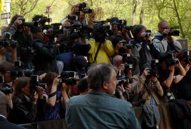 Paparazzi waiting outside. Photo Credit: Yusuf C