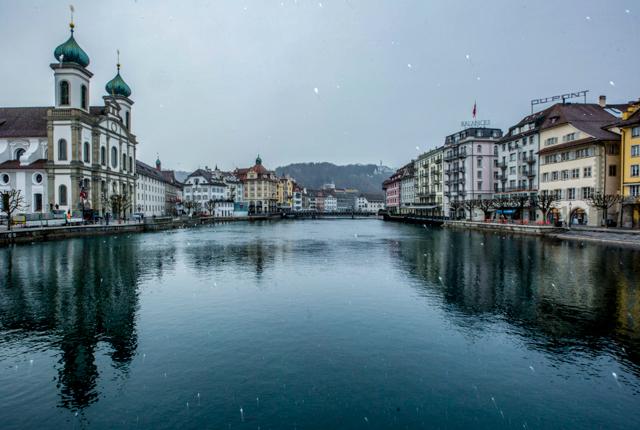 Lake Lucern at the Hotel des Balances/Oyster