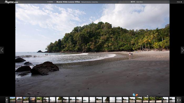 Oyster.com slideshow view