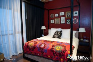 Printed patterns spice up the vintage-styled rooms.