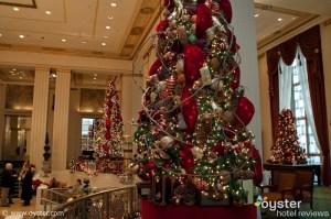 Christmas decorations at The Waldorf Astoria