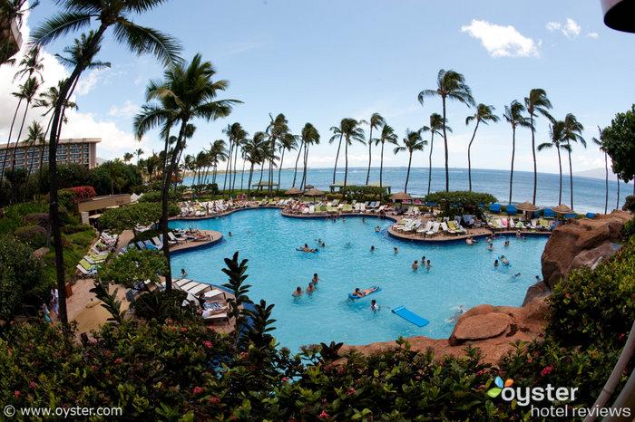 Main pool at the Hyatt Regency Maui Resort And Spa, one of Hawaii's kid-friendliest resorts
