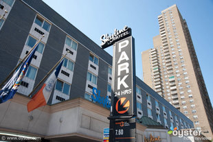 From the outside, the Skyline Hotel in New York resembles a roadside motel...