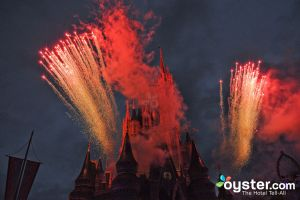 Fireworks over Disney World's Magic Kingdom/Oyster