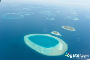 View of the Maldives from a Seaplane