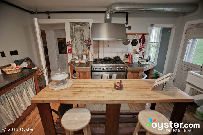 Meals at the Amee are delicious, cooked up in this adorably quaint farmhouse kitchen.