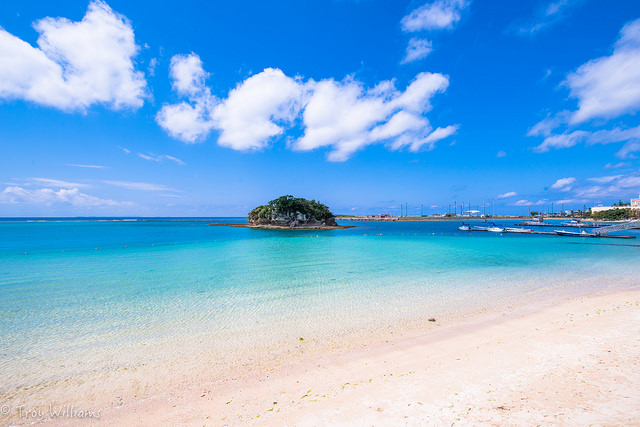 No, this isn't the Caribbean. This is Okinawa, Japan. troy_williams/Flickr