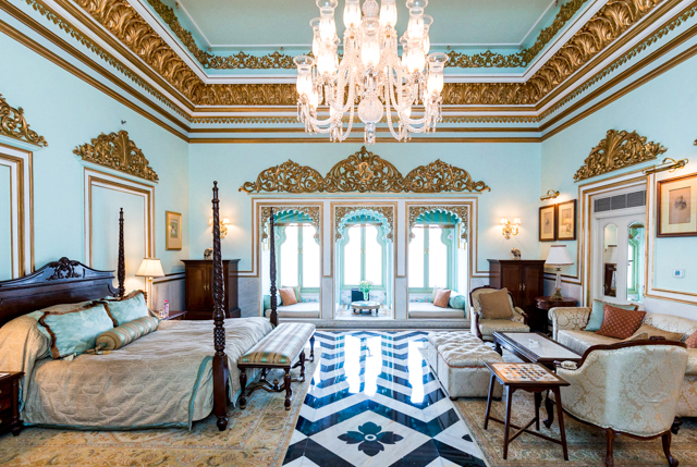 La Grande Suite Royale au Taj Lake Palace Udaipur / Oyster