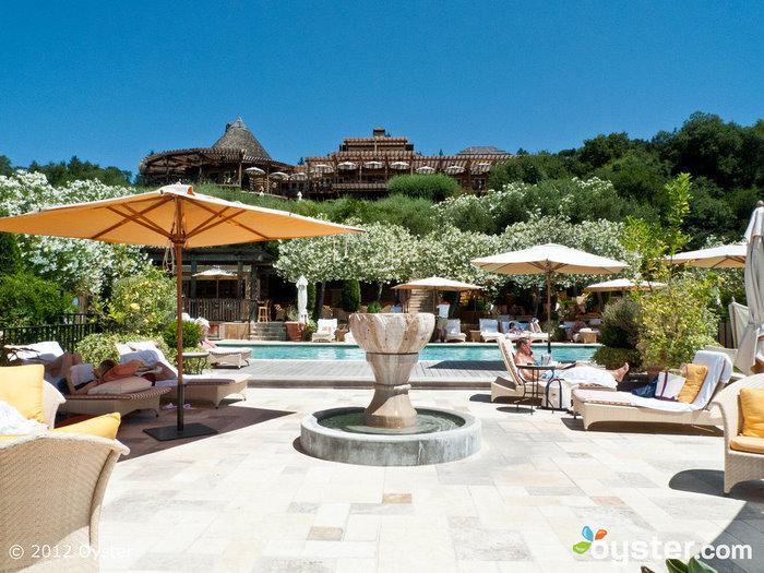 A piscina no Auberge Du Soleil; Rutherford, CA